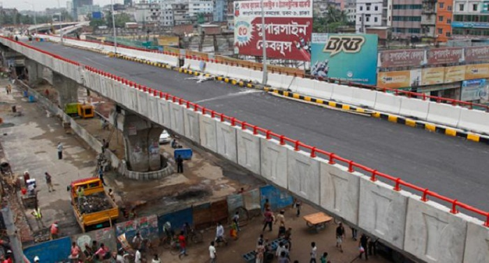 Moghbazar Flyover fully opens to traffic in October