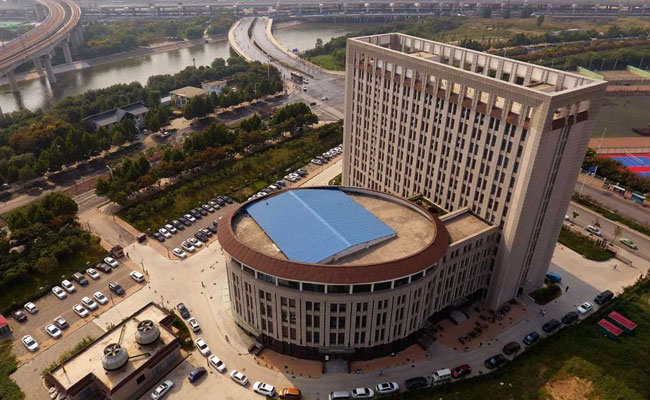 Chinese University building looks like a giant toilet