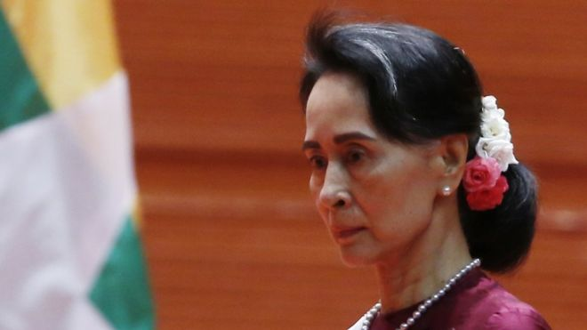 Aung San Suu Kyi portrait removed from Oxford college