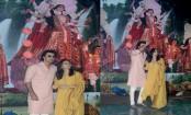Ranbir Kapoor and Alia Bhatt spotted at Durga pooja in Juhu