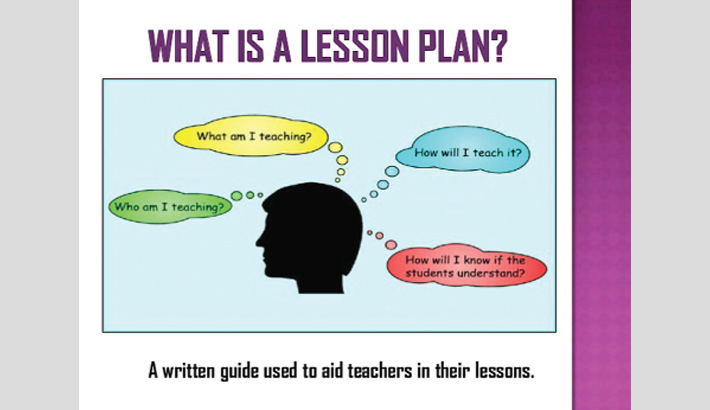 Should teachers have a lesson plan?
