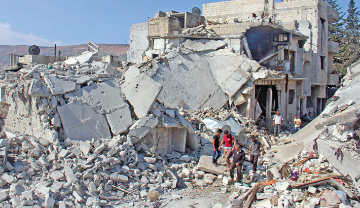 Fresh air strikes kill 28 in Syrian safe zone