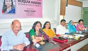 Roquia Haider honoured for her contribution  to journalism