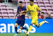 Barca wins behind closed doors amid Catalonia clashes