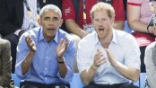 Barack Obama joins Prince Harry for Invictus surprise