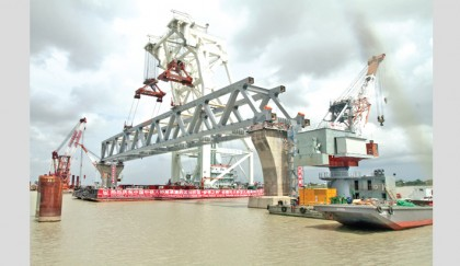 Padma Bridge now a visible reality