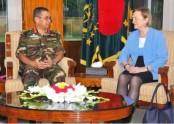 UN delegation calls on army chief
