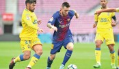 Barcelona top Las Palmas in empty Camp Nou