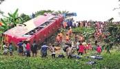 Seven killed as bus skids off highway