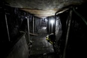 Gang spent four months digging 600 metre-long tunnel to steal £240m from bank