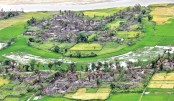 Rohingya villages burned to ground
