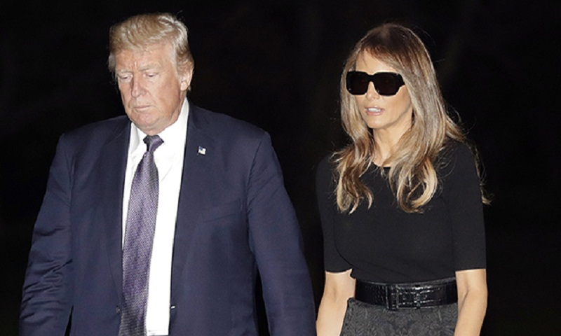 Melania Trump is getting majorly mocked for wearing sunglasses at night