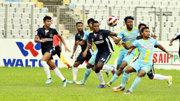 Chittagong Abahani drop point in BPL soccer