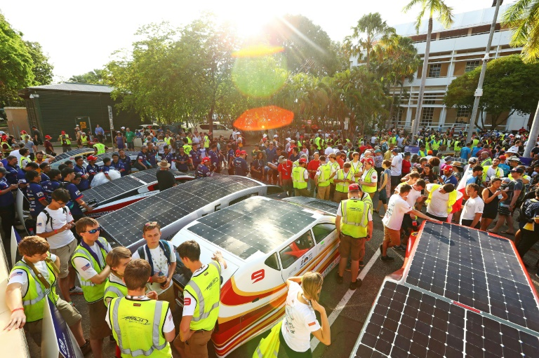 Epic world solar car race begins in Australia