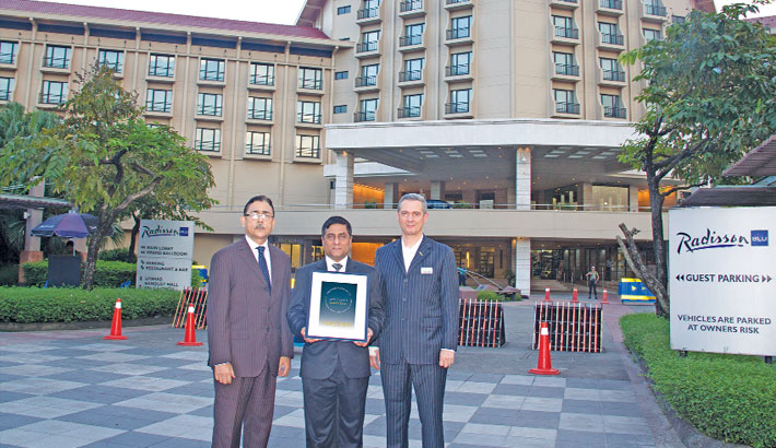 Radisson Blu Dhaka Achieves 'Safehotels Executive Level Certificate'