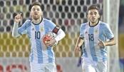 Messi hat-trick rescues Argentina
