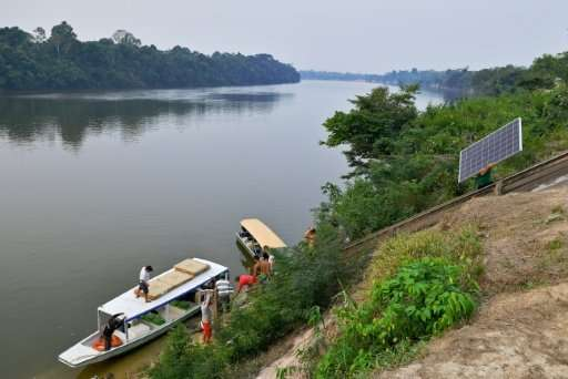 Solar panels shine in darkest Amazon, the 'last frontier'