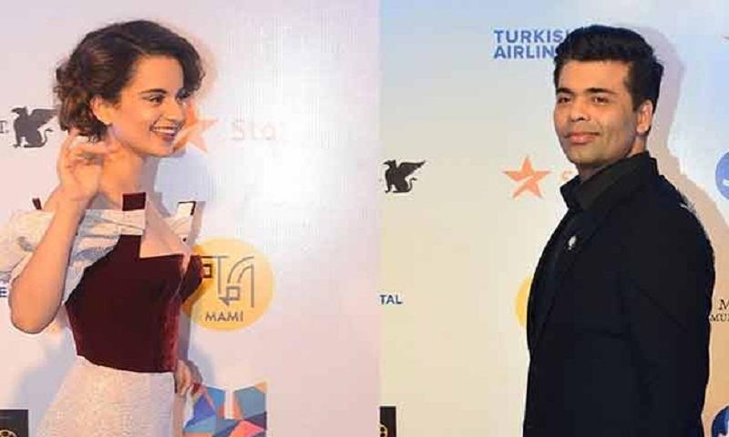 What happened when Kangana Ranaut and Karan Johar came face-to-face