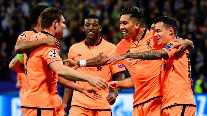 Liverpool thrashes Maribor 7-0 in Champions League