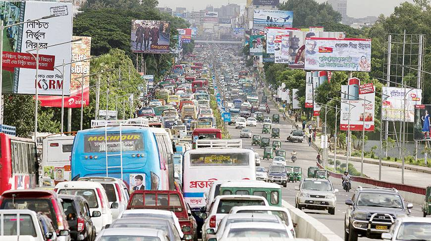 Traffic in Dhaka airport area clogged as Khaleda returns