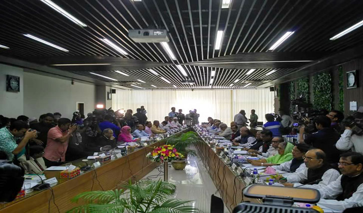 Awami League sits with Election Commission to discuss upcoming elections