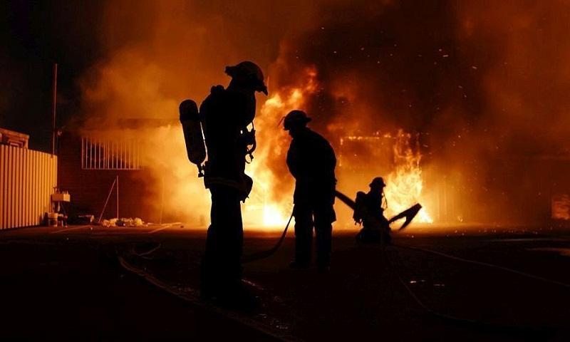 Huge fire severely damages historic hotel in Myanmar