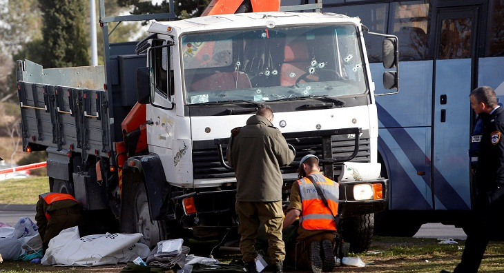 Israel police say foil Palestinian truck-ramming