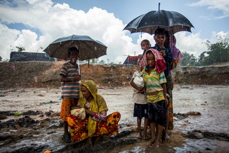 Rain adds to newly intruded Rohingyas' woes