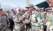 Diwali celebrations with military personnel stationed
