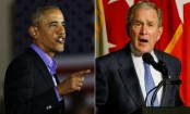 Obama and Bush decry deep US divisions without naming Trump