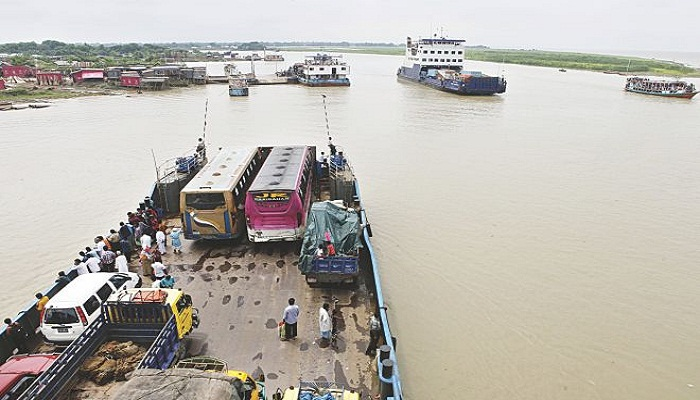 Ferry services at Paturia-Daulatdia resume
