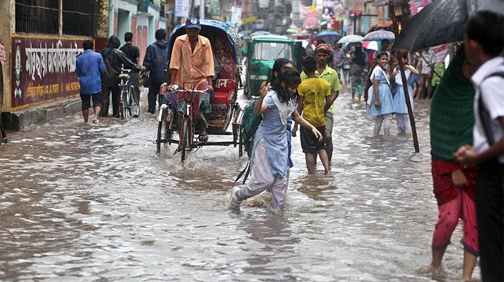 Highest 253 mm rainfall recorded at Feni