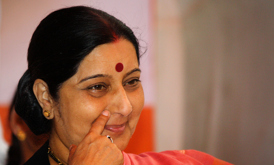 Sushma Swaraj due Sunday to hold bilateral talks