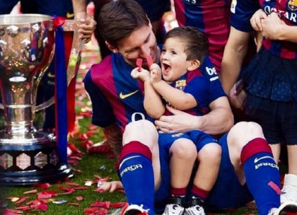 Messi posts video of son singing in Catalan