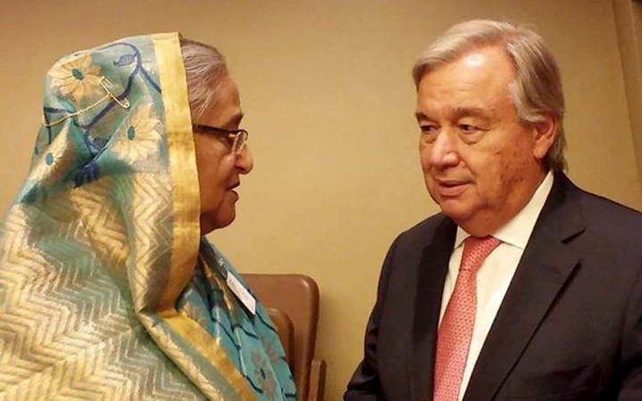 Hasina to Guterres: 'Put more pressure on Myanmar'