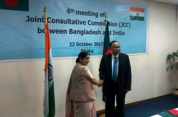 Return of Rohingyas to restore normalcy: Sushma
