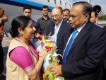 Sushma Swaraj arrives in Dhaka