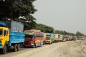 Huge tailback on Dhaka-Tangail Highway