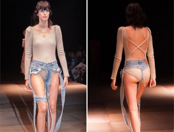 Will these thong jeans turn out to be a new fashion trend?