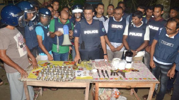 Huge bomb making materials recovered at Jessore 'militant den'