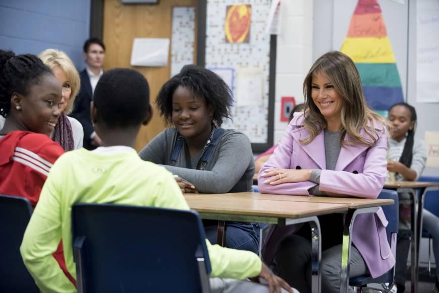 'Choose kindness,' Melania Trump tells schoolkids