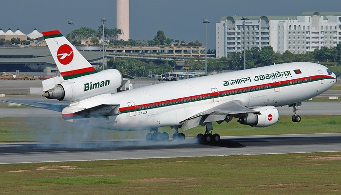 Biman's domestic flight landed safely after technical glitch