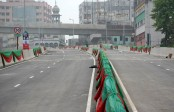 City dwellers suffer as road blocked for flyover opening programme
