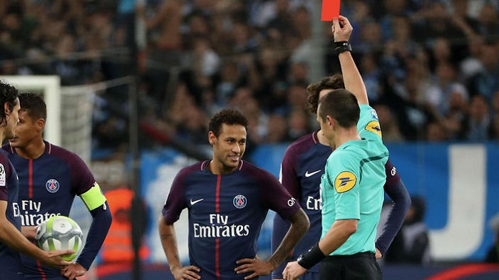 Neymar gets one match ban for Marseille red