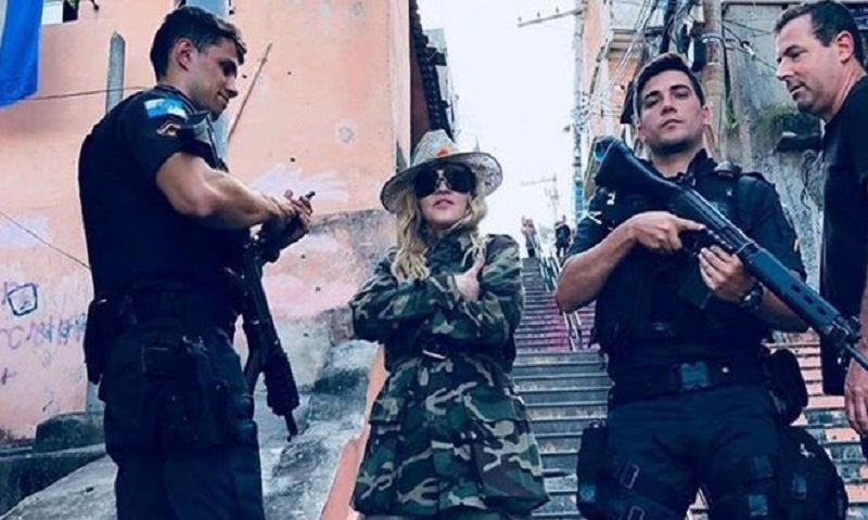 Madonna faces social media backlash over Rio police photo