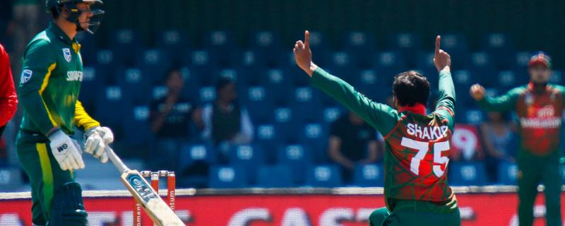 2nd T20I: Shakib sends off Mosehle and Duminy
