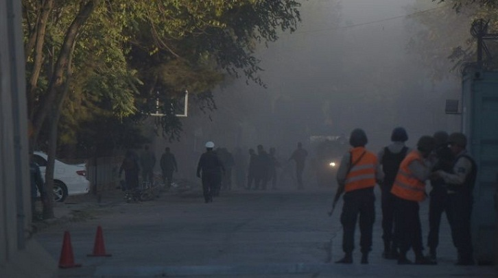 Suicide bomber attacks Kabul's diplomatic zone, four dead: officials
