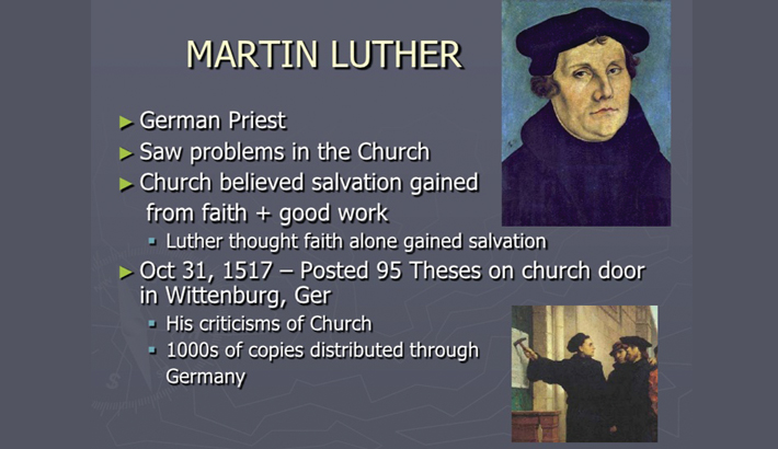 Reformation of Church in 16th Century