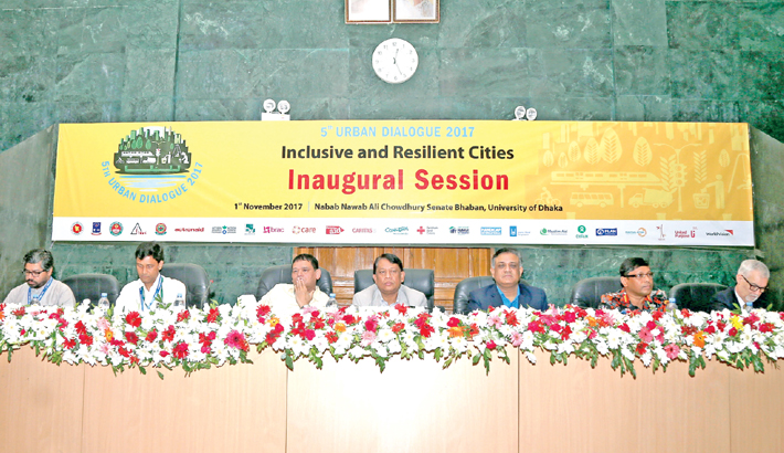 Guests participate in the inaugural ceremony