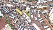 Unbearable traffic congestion in city